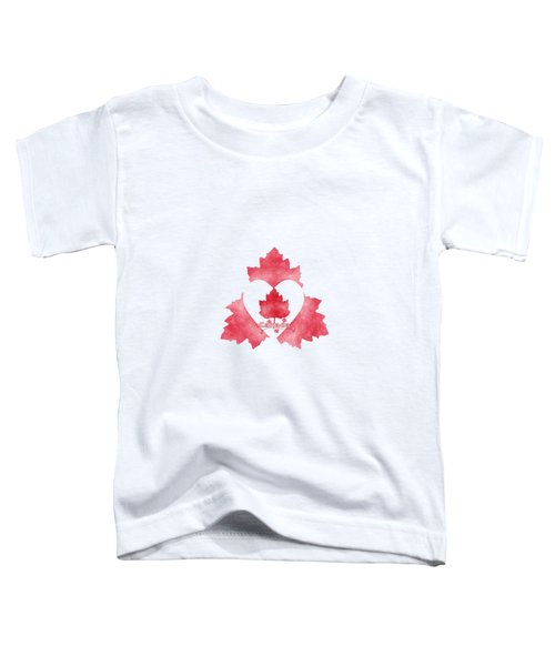 Red White And Canadian Toddler T-Shirt by Kathleen Sartoris