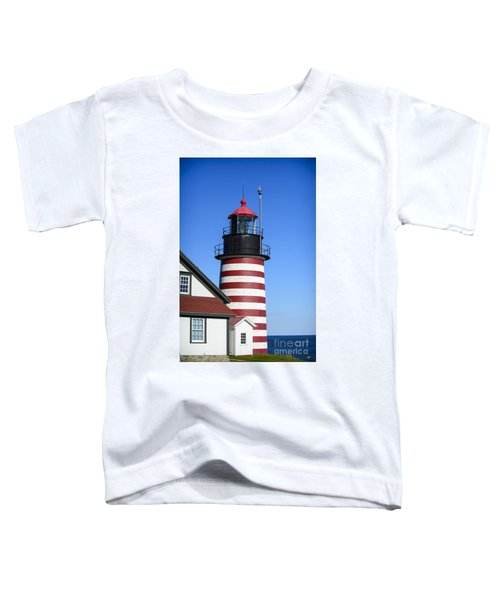 Red White Striped Lighthouse Toddler T-Shirt