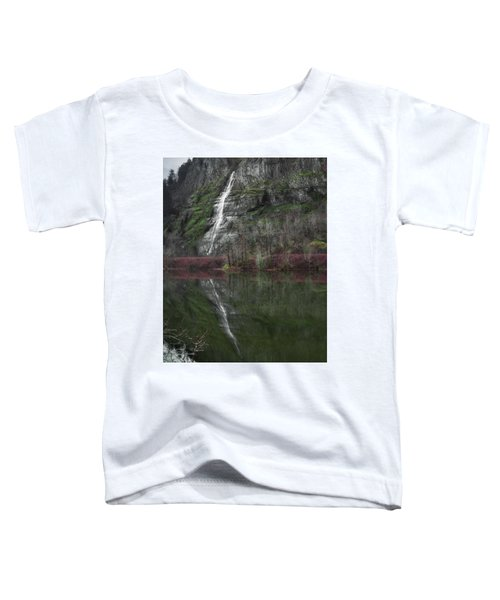 Reflection Of A Waterfall Toddler T-Shirt