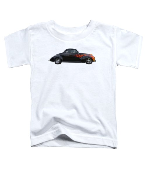 Reflections Of A 1940 Ford Deluxe Hot Rod With Flames Toddler T-Shirt