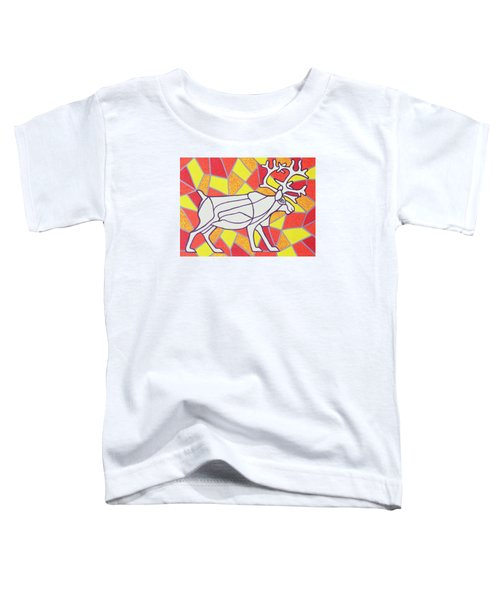 Reindeer On Stained Glass  Toddler T-Shirt