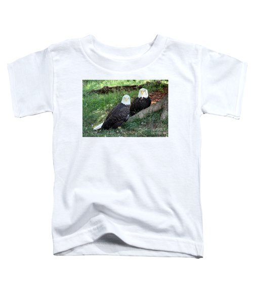 Resting Bald Eagles Toddler T-Shirt