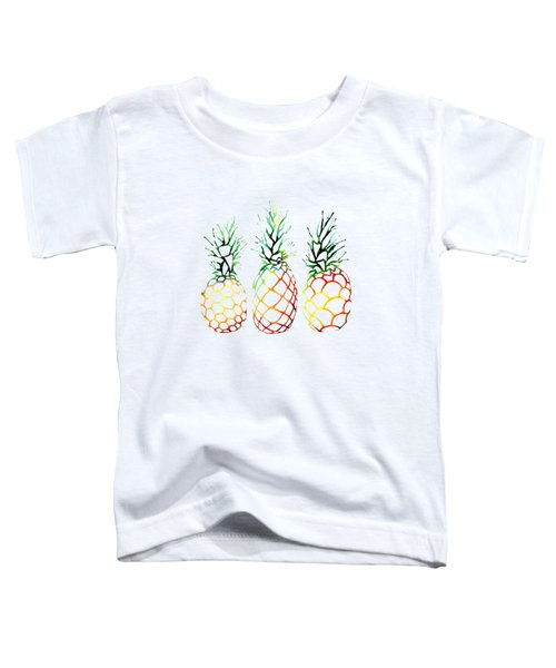 Retro Pineapples Toddler T-Shirt