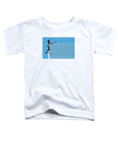 Return - Serena Williams Toddler T-Shirt by Andrei SKY