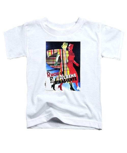 Rhodia Albene Alla Rinascente - Vintage Exposition Posture Toddler T-Shirt