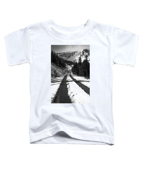 Ribbon To The Unknown Monochrome Art By Kaylyn Franks Toddler T-Shirt