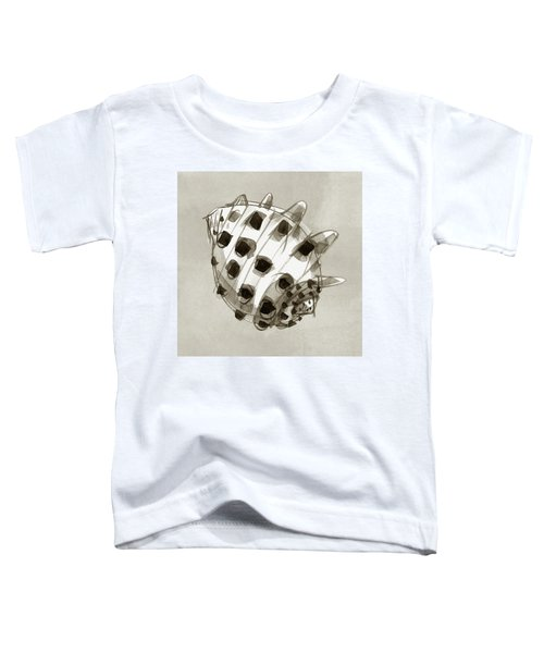 Toddler T-Shirt featuring the painting Ricinus Drupe - Back by Judith Kunzle