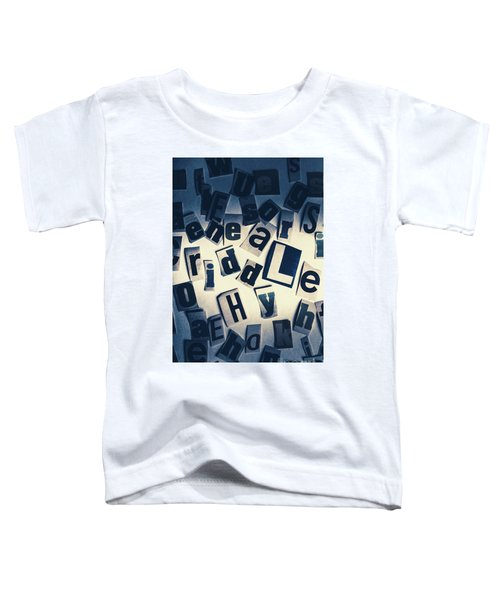 Riddles Of Contextual Scatter Toddler T-Shirt