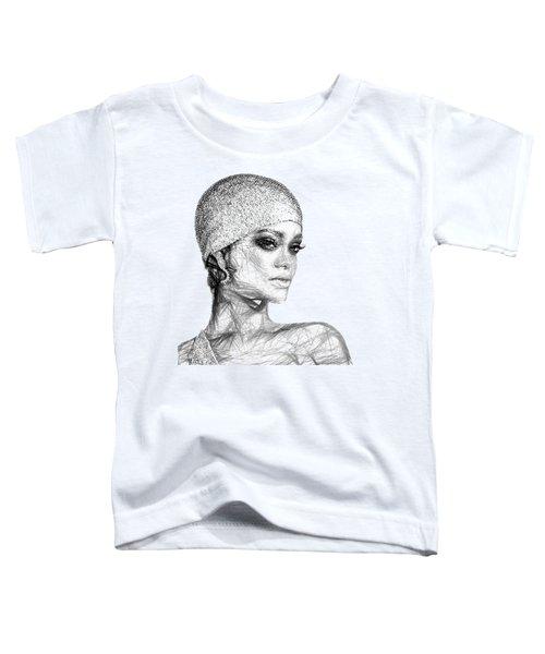 Rihanna Toddler T-Shirt by Rafael Salazar