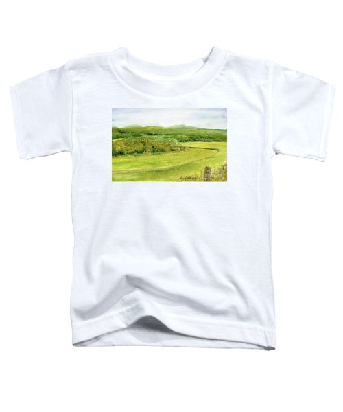 Road Through Vermont Field Toddler T-Shirt