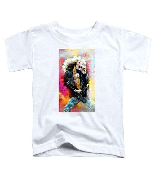 Robert Plant 03 Toddler T-Shirt by Miki De Goodaboom
