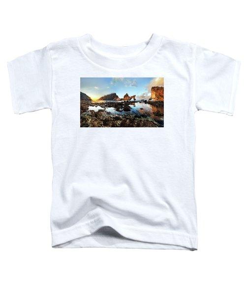 Rocky Beach Sunrise, Bali Toddler T-Shirt