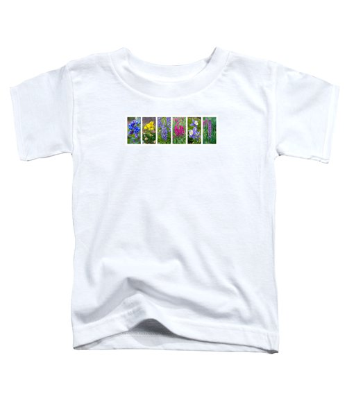 Toddler T-Shirt featuring the photograph Rocky Mountain Wildflower Collection by Aaron Spong