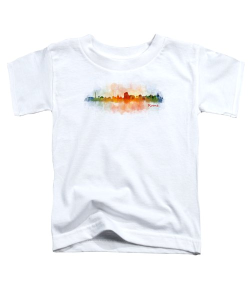 Rome City Skyline Hq V03 Toddler T-Shirt