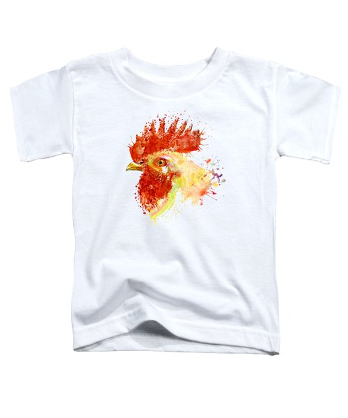 Rooster Head Toddler T-Shirt by Marian Voicu