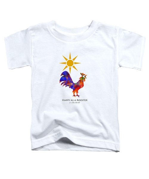 Rooster Pattern Art Toddler T-Shirt