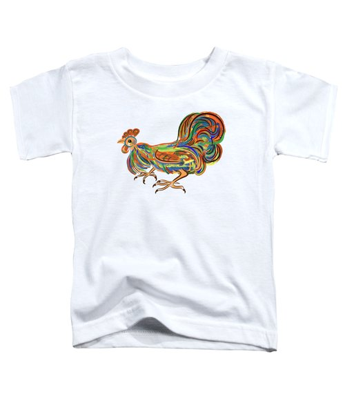 Rooster- Symbol Of Chinese New Year Toddler T-Shirt by Michal Boubin