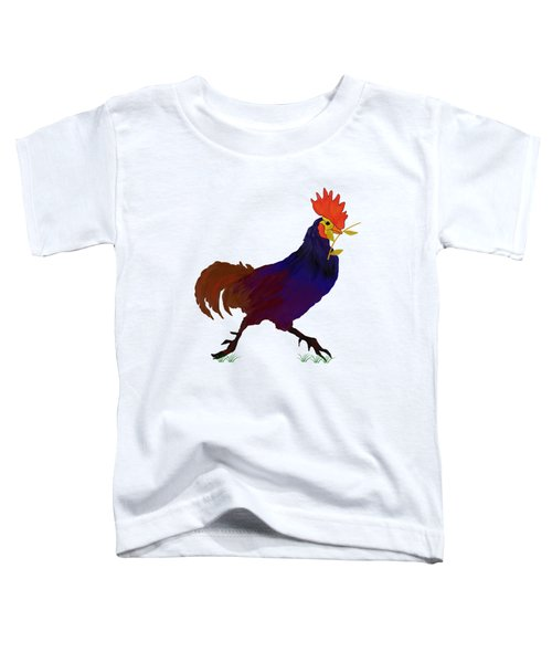 Rooster  T Shirt Toddler T-Shirt by Nancy Pauling