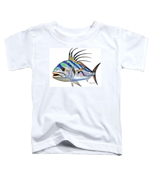 Roosterfish Digital Toddler T-Shirt by Carey Chen