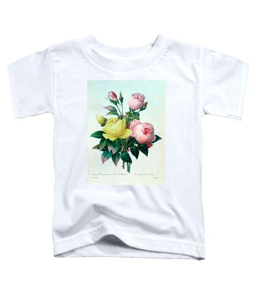Rosa Lutea And Rosa Indica Toddler T-Shirt