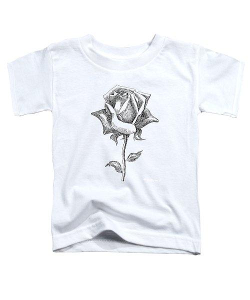 Rose Drawings Black-white 5 Toddler T-Shirt