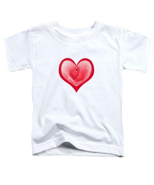 Rose Heart T-shirt And Print By Kaye Menner Toddler T-Shirt by Kaye Menner