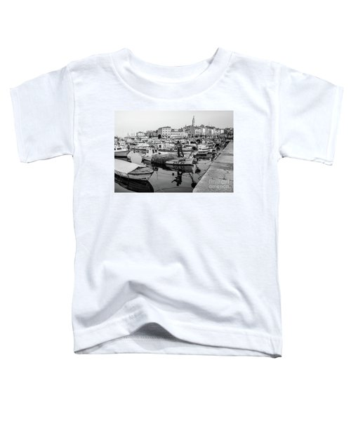 Rovinj Fisherman Working In Old Town Harbor - Rovinj, Istria, Croatia Toddler T-Shirt