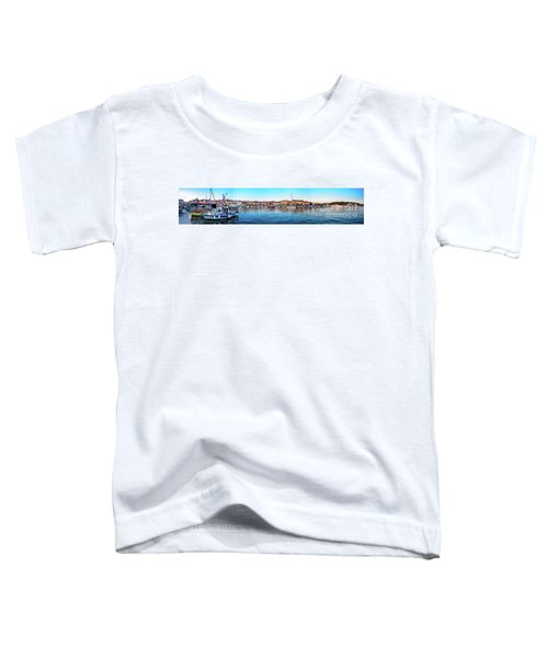 Rovinj Harbor And Boats Panorama Toddler T-Shirt