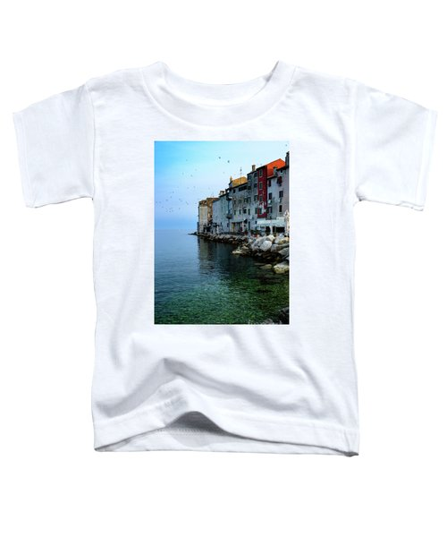 Rovinj Venetian Buildings And Adriatic Sea, Istria, Croatia Toddler T-Shirt