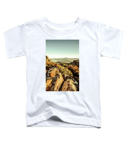 Rugged Mountaintops To Regional Valleys Toddler T-Shirt