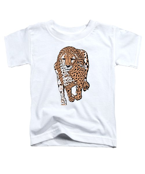 Running Cheetah Cartoonized #2 Toddler T-Shirt