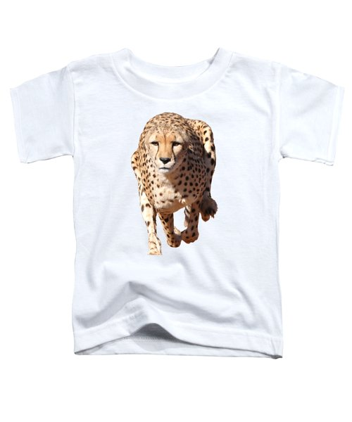 Running Cheetah, Transparent Background Toddler T-Shirt