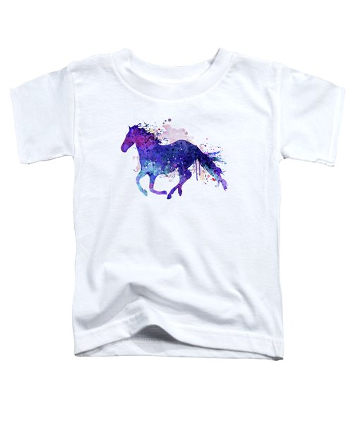 Running Horse Watercolor Silhouette Toddler T-Shirt