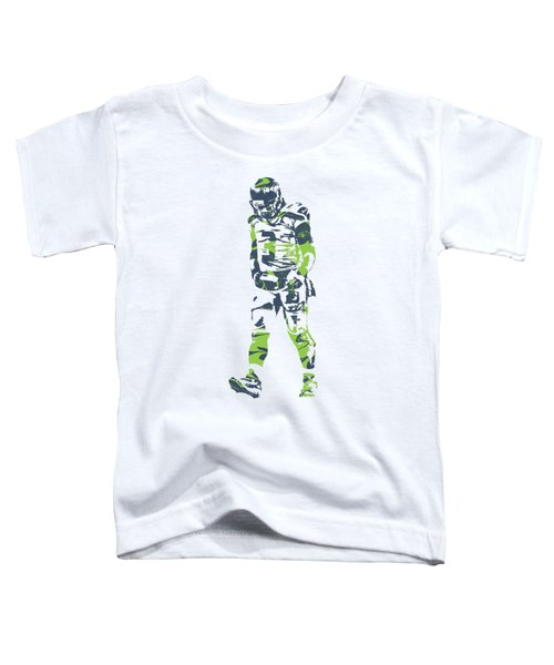 Russell Wilson Seattle Seahawks Pixel Art T Shirt 1 Toddler T-Shirt