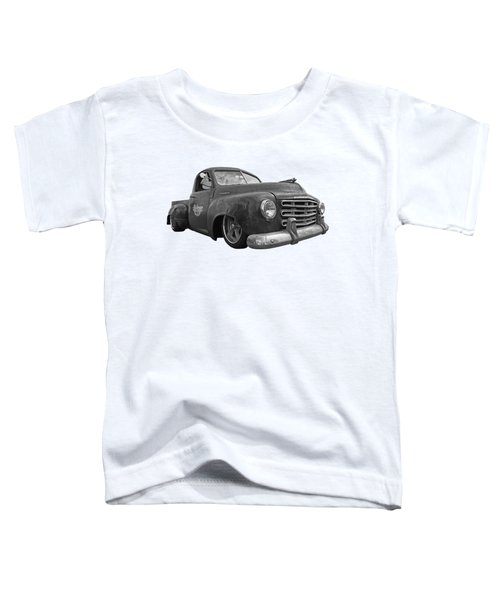 Rusty Studebaker In Black And White Toddler T-Shirt