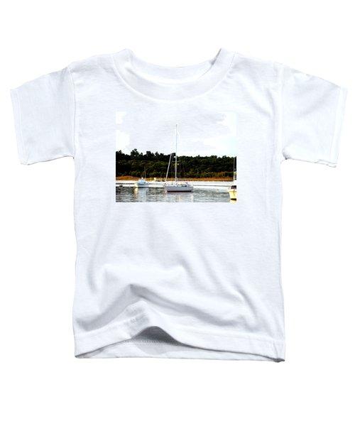 Sail Boat At Anchor  Toddler T-Shirt