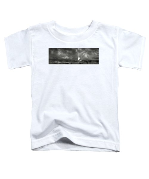 Sailing The Wine Dark Sea In Black And White Toddler T-Shirt