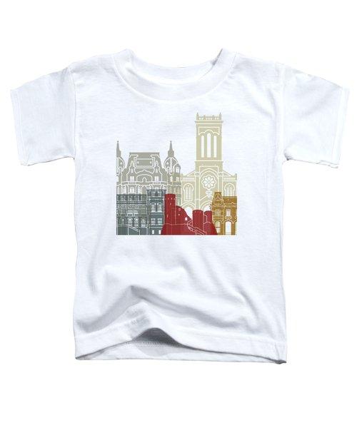 Saint Etienne Skyline Poster Toddler T-Shirt