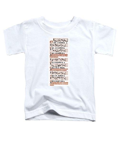 Salisbury Missal, 1555 Toddler T-Shirt