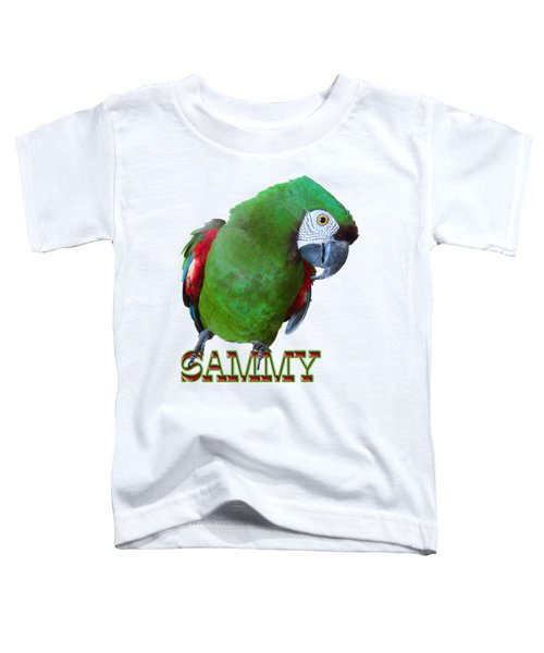Sammy The Severe Toddler T-Shirt by Zazu's House Parrot Sanctuary