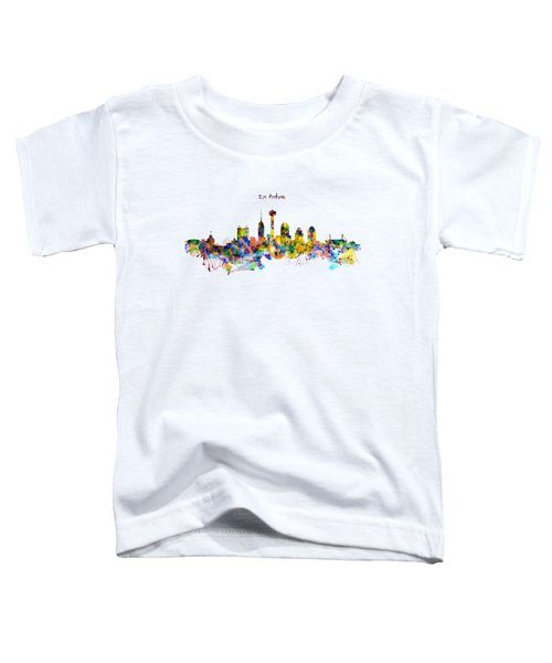 San Antonio Skyline Silhouette Toddler T-Shirt