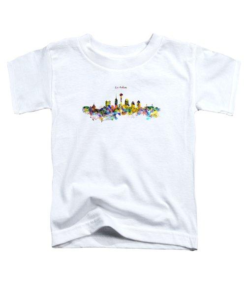 San Antonio Skyline Silhouette Toddler T-Shirt