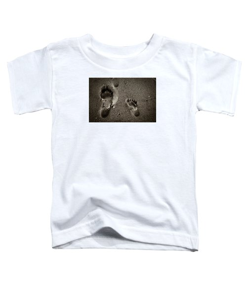 Toddler T-Shirt featuring the photograph Sand Feet by Lora Lee Chapman