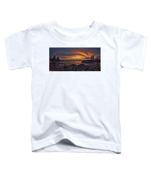 Sand Harbor Sunset Panorama Toddler T-Shirt