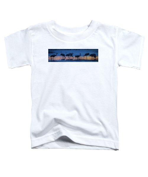 Sandhill Cranes At Twilight Toddler T-Shirt