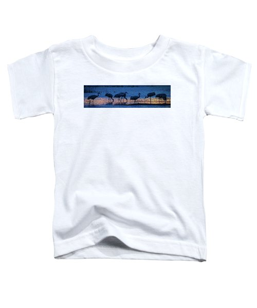 Sandhill Cranes At Twilight Toddler T-Shirt