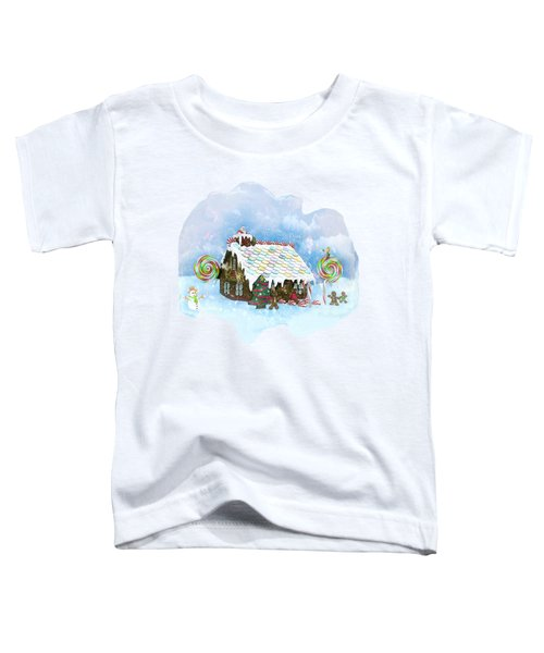 Santa Loves Cookies Toddler T-Shirt by Methune Hively