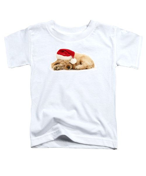 Santa's Sleepy Spaniel Toddler T-Shirt