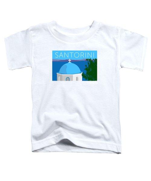 Santorini Dome - Blue Toddler T-Shirt