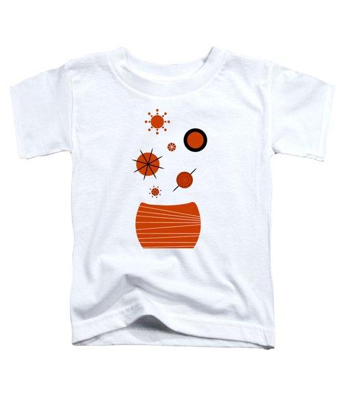 Scandinavian Floral Toddler T-Shirt by Frank Tschakert